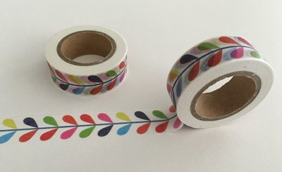 Washi Masking Tape | Rainbow Leaves