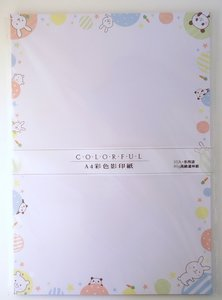 Colourful Large Letter Paper | Panda and Rabbit