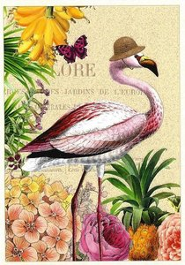 Postcard Edition Tausendschoen | Flamingo Hat