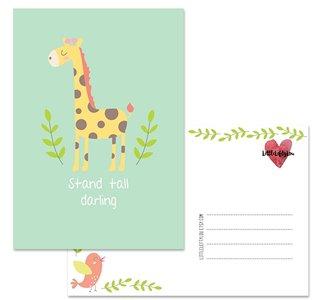 Postcard LittleLeftyLou | Cute Animals - Giraffe