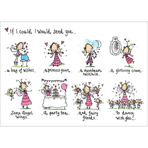 Juicy Lucy Designs Postcard - If I could I would send you...a bag of wishes!