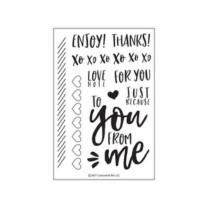 Clear Stamps Set - Handlettering | LOve Notes Stamp Set