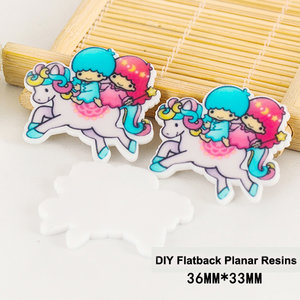Flatbacks Planar Resin Charms | Little Twin Stars on Unicorn