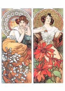 Postcard Tushita Fine Arts | Alphonse Mucha