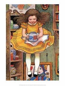 Postcard Alice in Wonderland   Marmelade Jar