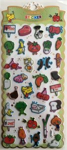 Puffy Epoxy Stickers | Kawaii Food