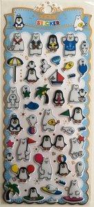 Puffy Epoxy Stickers   Polar Bear & Pinguin