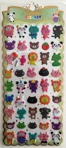 Puffy Epoxy Stickers | Funny Animals