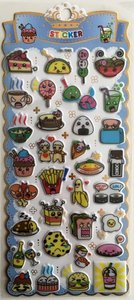 Puffy Epoxy Stickers | Funny Foods