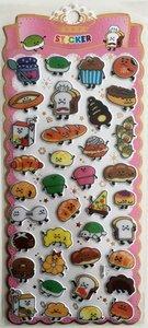 Puffy Epoxy Stickers | Kawaii Food