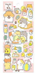 Kamio Puffy Seal Sticker | Hamster