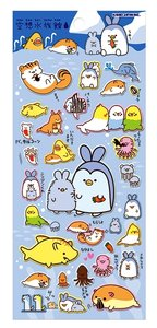 Kamio Puffy Seal Sticker | Penguin Rabbit Ear