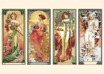Postcard Tushita Fine Arts | Alphonse Mucha - The Seasons