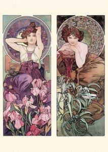 Postcard Tushita Fine Arts | Alphonse Mucha - Amethyst, Emerald