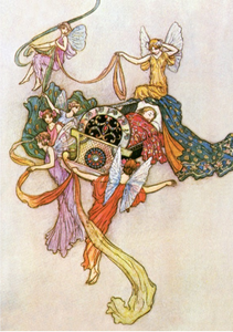 Postcard Sleeping Beauty