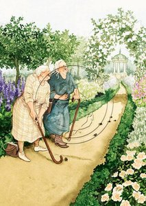 Inge Look Nr. 06 Postcard | Old Ladies Aunties