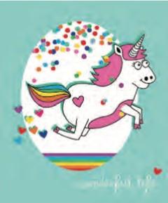 L'Atelier de Papier Aquarupella Postcard | Unicorn