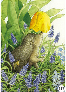 Inge Look Nr. 117 Postcards Garden | Hedgehog