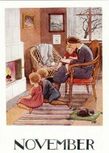 Elsa Beskow Postcard | November