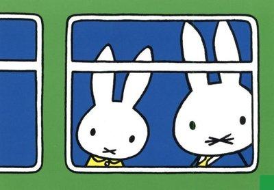 Nijntje Miffy Postcards | Nijntje in de trein