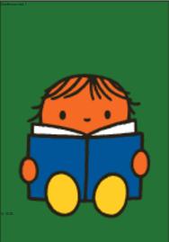Nijntje Miffy Postcards   Daan leest een boek