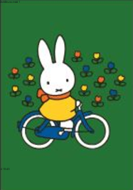 Nijntje Miffy Postcards   Nijntje op de fiets