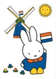 Nijntje Miffy Postcards | Nijntje met molen