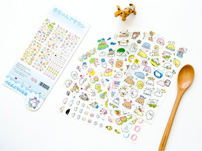 Mamegoma Kawaii Seal Sticker Set