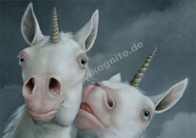 Inkognito Postcard | Einhörner