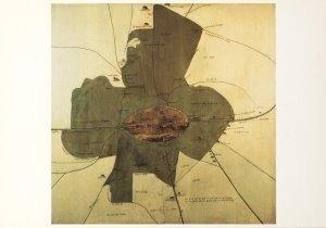 Postcard | Plattegrond van de stad Utrecht met haar vrijheid 1593