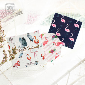 Sticker Flakes Box | Flamingo