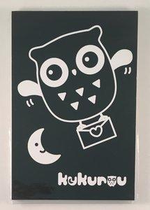 Medium Black and White Memopad | Kukurou Owl