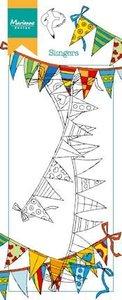 Marianne Design Clear Stamp | Hetty's border-garland
