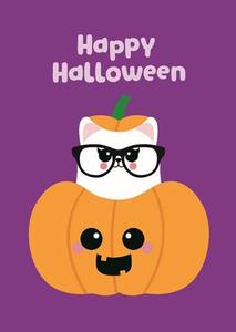 Halloween Postcard | Happy Halloween Pumpkin