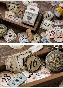 Sticker Flakes Box | Retro Numbers