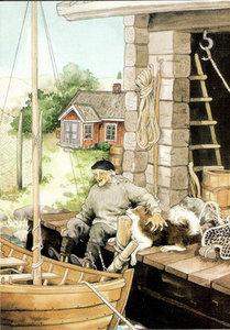 Inge Look Nr. 111 Postcard Garden | Boat