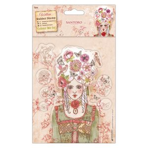 Santoro's Willow Colour Me In Rubber Stamps - Santoro - Marie-Antoinette