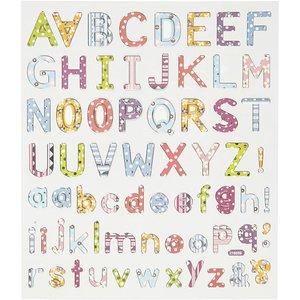 Seal Sticker with Glitter Foil | Alphabet