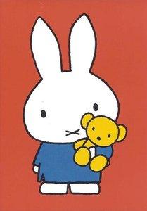 Nijntje Miffy Postcards | Nijntje met beertje