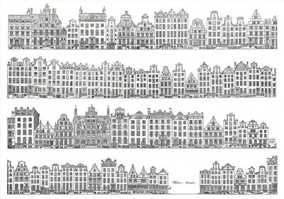 Museum Cards Postcard | Drawings of the Keizersgracht and Herengracht