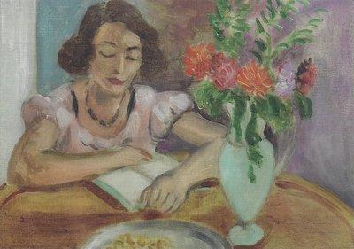 Museum Cards Postcard   Lezende vrouw, Henri Matisse