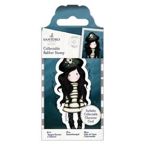 Gorjuss Collectable Mini Rubber Stamp - Santoro - No. 49 Piracy