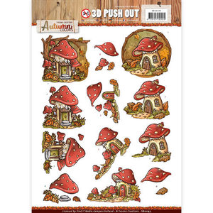 Pushout -Yvonne creations - Autumn Colors- Mushrooms Houses