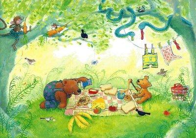 Gallery Cards Postcard | Mies van Hout, Ik zag twee beren