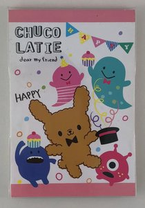 Qtie Cafe Medium Memopad | Chuco Latie - Happy Monsters