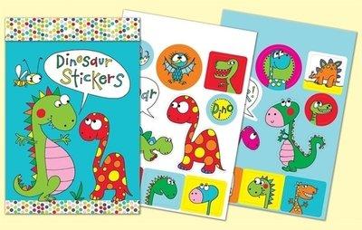 Rachel Ellen Designs Sticker Match Note Pads | STMNT9 Dinosaur Stickers