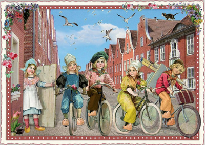 Postcard Edition Tausendschoen | Holland - Bicycles