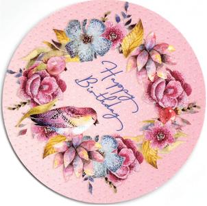 Round Postcard Edition Tausendschoen | Happy Birthday