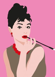 Pop Art Postcard | Audrey Hepburn