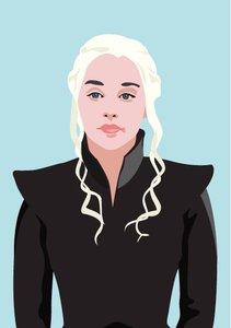 Pop Art Postcard | Games of Thrones - Daenerys Targaryen